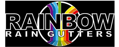 Rainbow Rain Gutters Logo